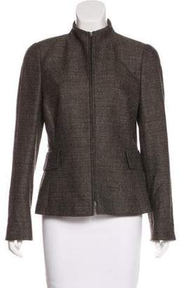 Akris Mock Neck Tweed Jacket Mock Neck Tweed Jacket
