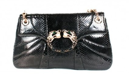 Gucci excellent (EX) Tom Ford Double Chain Black Dragon Python Bag