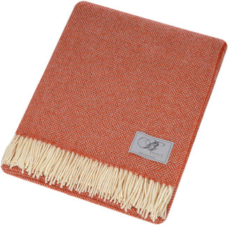 Bronte By Moon Bronte by Moon - Parquet Merino Lambswool Throw - Coral