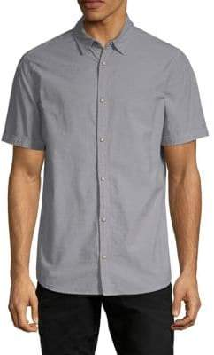 Buffalo David Bitton Camo-Panel Short-Sleeve Shirt