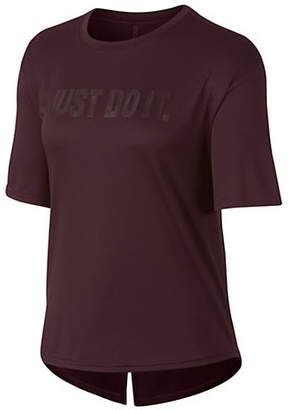 Nike Short-Sleeve Training Cropped Top