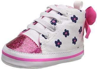 Gerber Girls' Hotpink/Navy Flower Hightop-K Sneaker