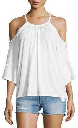 Ella Moss Bella Cold-Shoulder Top, Natural $94 thestylecure.com