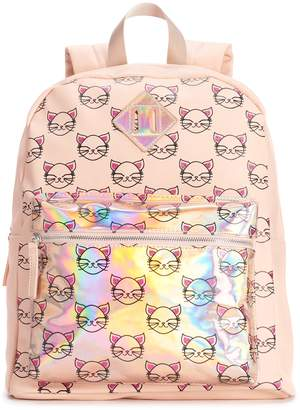 Glitter Cat Hologram Backpack