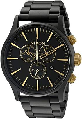 Nixon Sentry Chrono A3861041-00. Men's Watch (42mm Watch Case. 23-20mm Matte Black Stainless Steel Band)