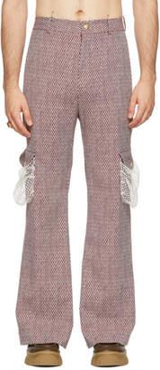 Palomo Spain Burgundy Net Trousers