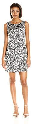 Vince Camuto Women's Sleeveless Tank Dress, Ivory/Black 6
