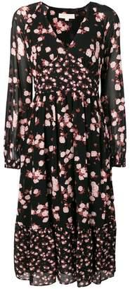 MICHAEL Michael Kors floral long-sleeve dress