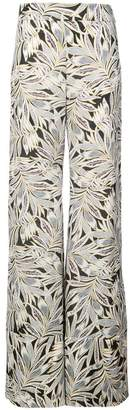 Alexis foliage print flared trousers
