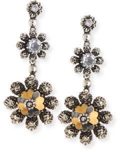 Bottega VenetaBottega Veneta Floral Crystal Drop Earrings