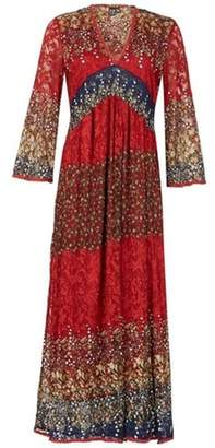 Dorothy Perkins Womens *Izabel London Red Ditsy Floral Print Maxi Dress
