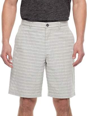 Marc Anthony Men's Slim-Fit Texture-Striped Flat-Front Shorts