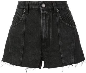 Givenchy raw edge denim shorts