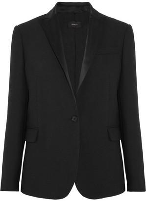 Joseph - Savoy Satin-trimmed Twill Blazer - Black $790 thestylecure.com