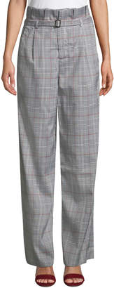 ENGLISH FACTORY High-Waist Plaid Pants