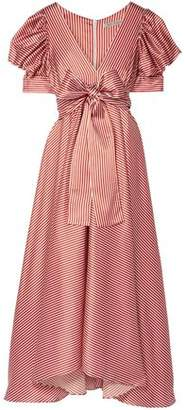 Silvia Tcherassi Striped Stretch-silk Maxi Dress