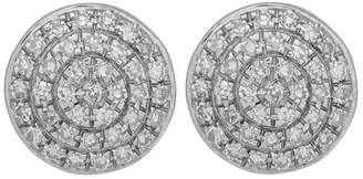 Monica Vinader Silver Diamond Ava Button Stud Earrings