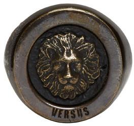 Versus Gold Lion Ring $140 thestylecure.com