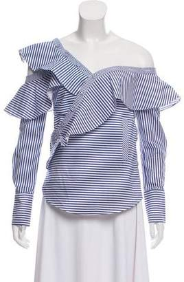 Self-Portrait Striped Off-The-Shoulder Top w/ Tags