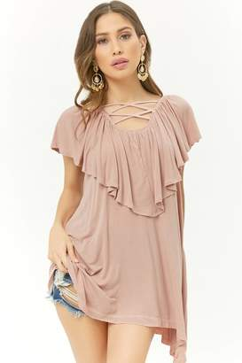 Forever 21 Longline Flounce Top