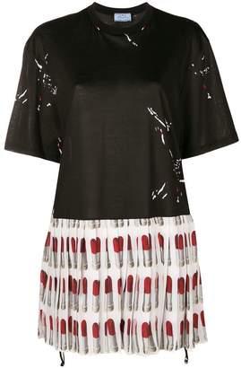Prada pleated Lipstick dress