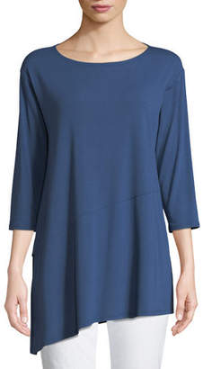 Eileen Fisher Viscose Jersey Asymmetric Top