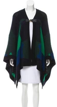 Louis Vuitton Patterned Knit Poncho