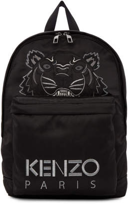 Kenzo Black Limited Edition Holiday Tiger Backpack