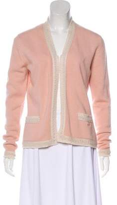 Chanel Cashmere Open-Front Cardigan