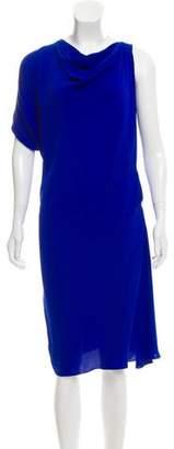Lanvin Silk Draped Dress w/ Tags