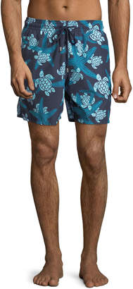 Vilebrequin Moorea Turtle & Starfish Swim Trunks