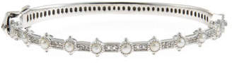 Jude Frances Delicate Lisse Pearl & White Topaz Bangle