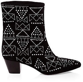 Rebecca Minkoff Women's Hessania Studded Suede Boots