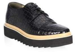 Stella McCartney Croc Lace-Up Creeper Derbys