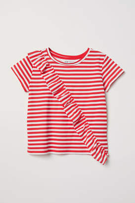 H&M Top with Flounce - Red