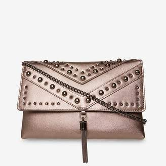 At Debenhams Dorothy Perkins Pewter Studded Tassel Clutch Bag