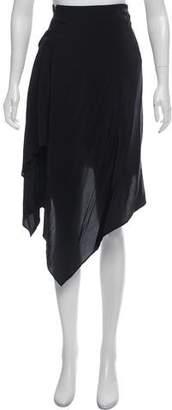 Maison Margiela Silk-Accented Mini Skirt