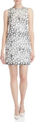 Karl Lagerfeld Paris Leopard Floral Applique Sheath Dress