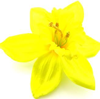 "oceansEdge11 5"" Daffodil Silk Flower Brooch Pin with Locking Bale"
