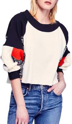 Free People Josie Patchwork Sweater