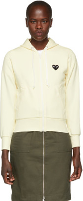 Comme des Garcons White Heart Patch Hoodie