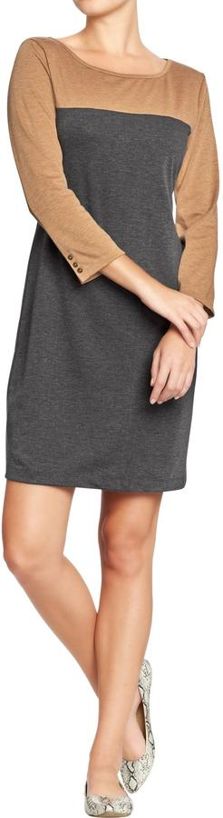 Old Navy Women's Button-Sleeve Ponte-Knit Dresses