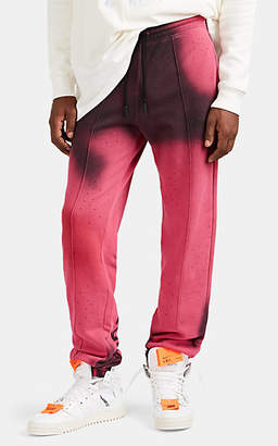 Off-White Men's Crystal-Embellished Tie-Dyed Cotton Sweatpants - Pink