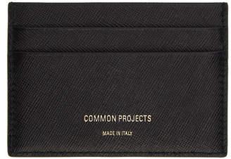 Common Projects Black Saffiano Multi Card Holder