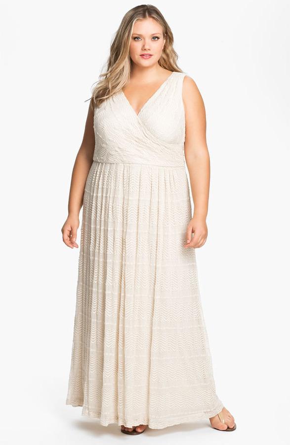 Donna Ricco Surplice Maxi Dress (Plus)