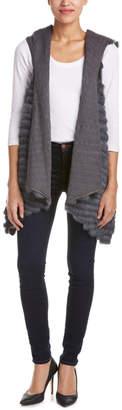 Jocelyn Draped Front Wool-Blend Vest