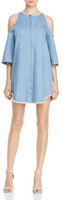 Honey Punch Cold Shoulder Denim Dress $53 thestylecure.com