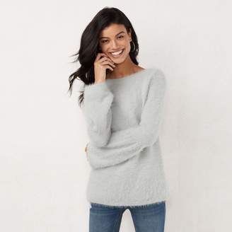 Lauren Conrad Women's Fuzzy Bell Sleeve Sweater