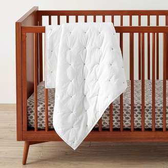 west elm Washed Cotton Toddler Quilt - White