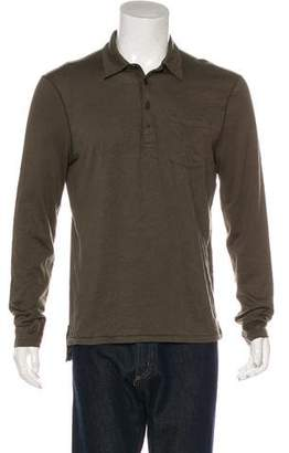 John Varvatos Woven Collared T-shirt